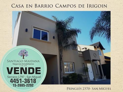 Imagen 1 de 14 de Venta Casa En Barrio Cerrado Campos De Irigoin - San Miguel