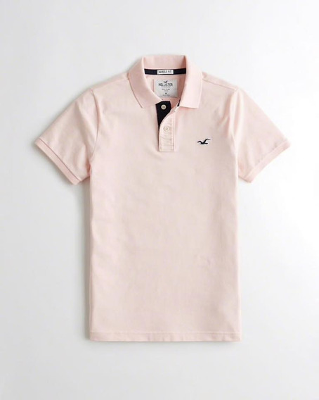 Hollister Polo Muscle Fit Pink