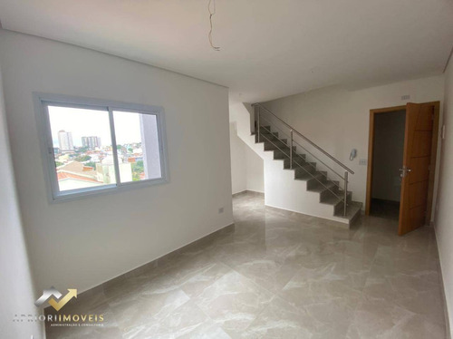 Cobertura Com 2 Dormitórios À Venda, 100 M² Por R$ 399.000 - Vila Marina - Santo André/sp - Co1010