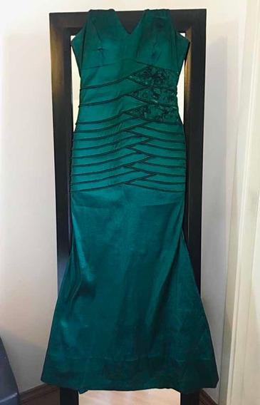 Vestido De Festa Sereia Verde Tafetá
