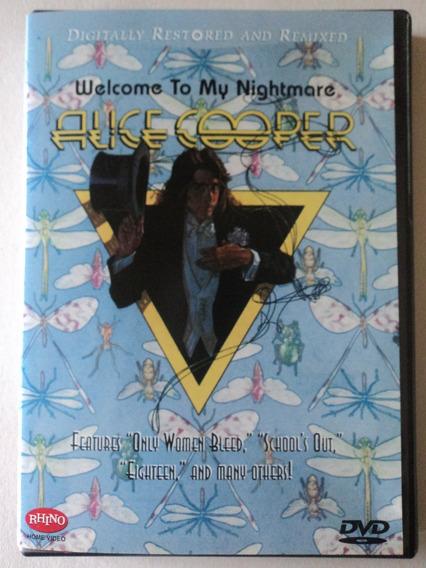 Dvd-alice Cooper:welcome To My Nightmare:rhino:importado