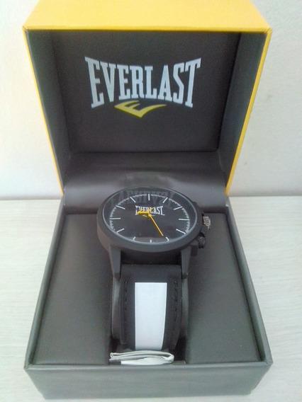 Relógio Analógico Esportivo Everlast Preto Com Branco