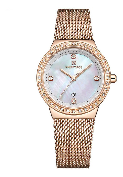 Relógio Feminino Naviforce 5005 Fashion Casual Lançamento