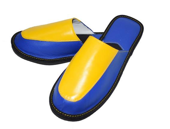 Pantufla Premium De Cuero Diseño Colores Original Unimok