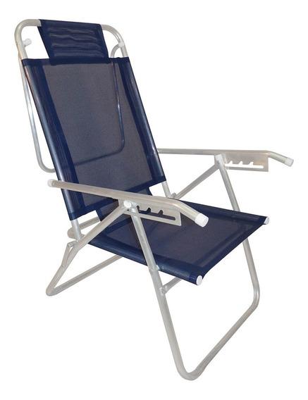 Cadeira De Praia Reclinável Zaka Infinita Up Marinho