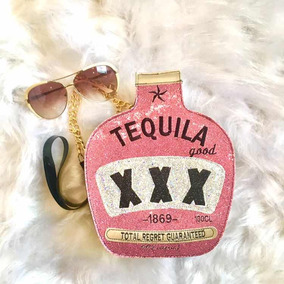 Bolsa Divertida Feminina, Estilo Blogueira, Modelo Tequila