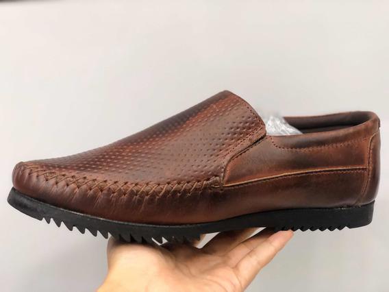 Tênis Sapatos Masculino De Couro