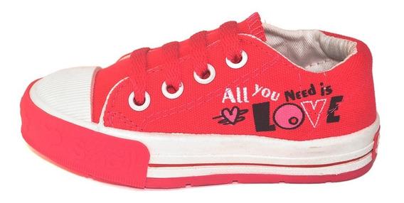 Zapatilla Lona Con Estampa Small Shoes 2 Variantes