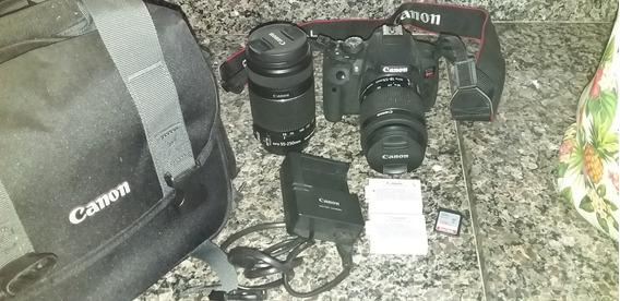 Câmera Canon Dslr Rebel T5i + Acessórios
