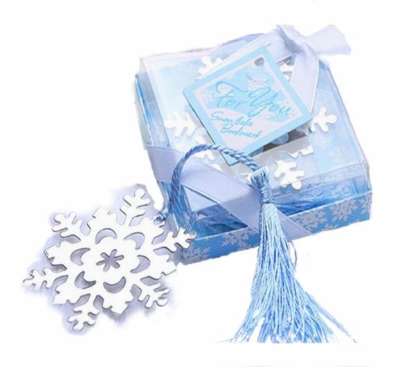 Recuerdos 50 Separadores Libros Copo Nieve Original Frozen