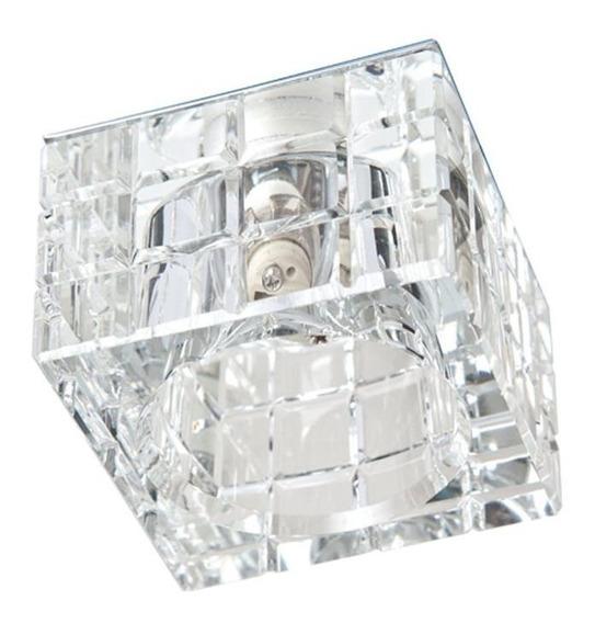 Spot Iluminação Vidro Cristal Embutido Gesso Sanca Ac974