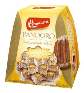 Panettone Pandoro Sem Frutas Bauducco Caixa 500g
