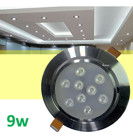 Spot Led 9w Foco Dirigible Alta Calidad Y Potencia Real Tipo Empotrado Para Plafon Luces Casa Tipo Panel