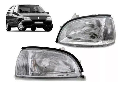 Juego Optica P/ Renault Clio 96 97 98 99 1996 1997 1998 1999