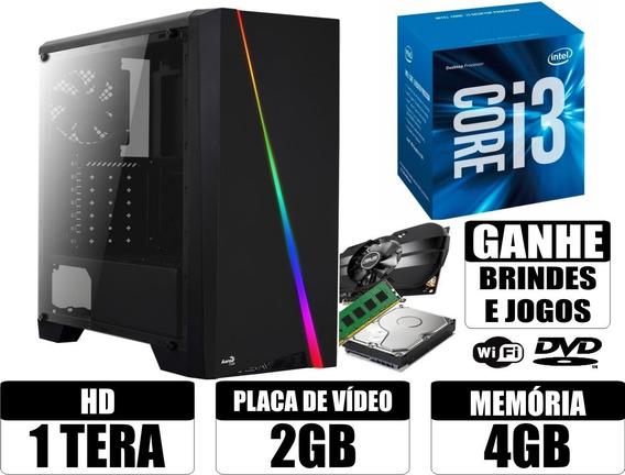 Cpu Gamer Core I3 4gb 1tb Placa De Video 2gb Wi-fi + Brindes