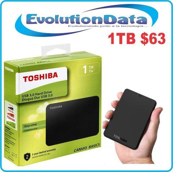 Disco Duro Externo Toshiba 1tb Garantia Nuevos Usb 3