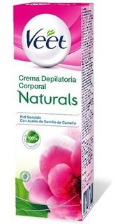 Veet Naturals Crema Depilatoria Distintas Pieles X 100m