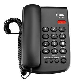 Telefone fixo Elgin TCF-2000 preto