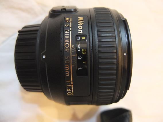 Lente Nikon 50mm 1.4g Nikkor Af-s Fixa
