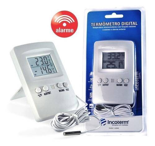 Termômetro Digital Máxima E Minima Com Alarme -20c+50