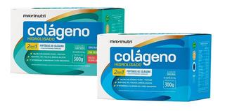 Kit 2 Colágeno Hidrolisado 2 Em 1 - 30 Sachês - Maxinutri