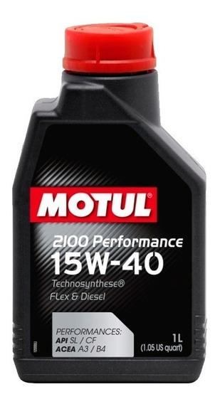 Óleo Do Motor Original Motul 2100 Performance 15w40 Semi