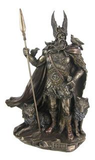 Estatua De Dios Nórdico Odin, Escultura En Bronce Fundido