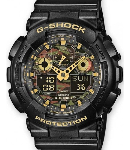 Relógio Casio Masculino G-shock Ga-100cf-1a9dr Nota Fiscal
