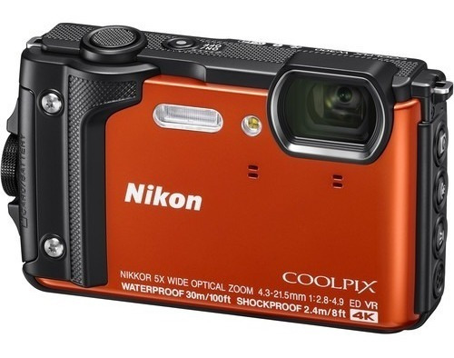 Câmera Nikon Coolpix W300 4k Prova Dágua Laranja 12x S/juros