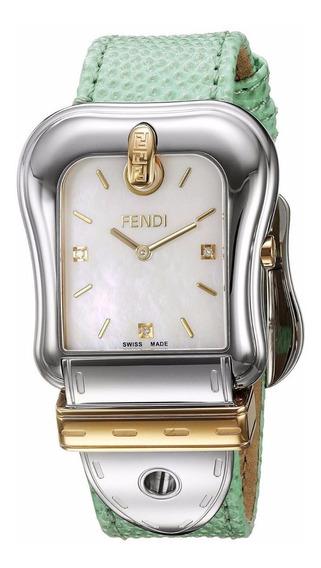 Reloj Fendi B Acero Inox Cuero Verde Mujer Msi F382114581d1