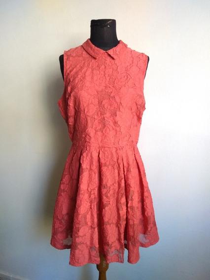 Vestido Importado De Forever Xxi Nuevo Color Coral