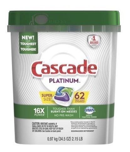 Cascade Platinum Todo En Uno Detergente Lavavajillas #62