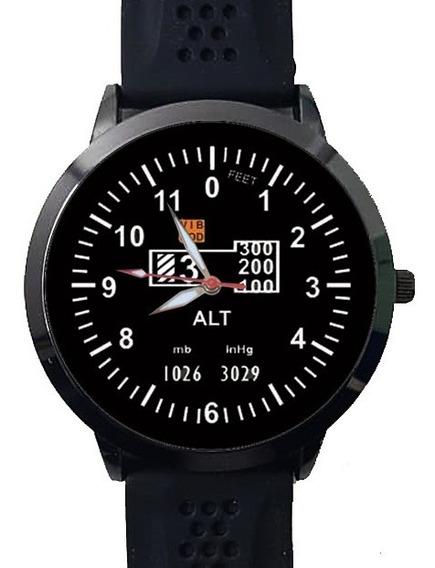 Relógio Aviação Avião Altímetro Vôo Instrumento De Vôo
