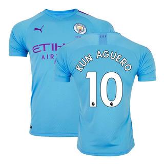 Camisa Puma Manchester City 1 Home 19/20 Aguero 10 Original