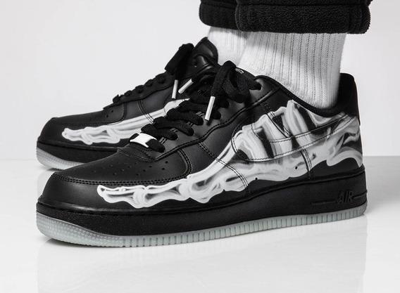 Tênis Nike Air Force 1 Skeleton Halloween Af1 - Tam 42.5 Br