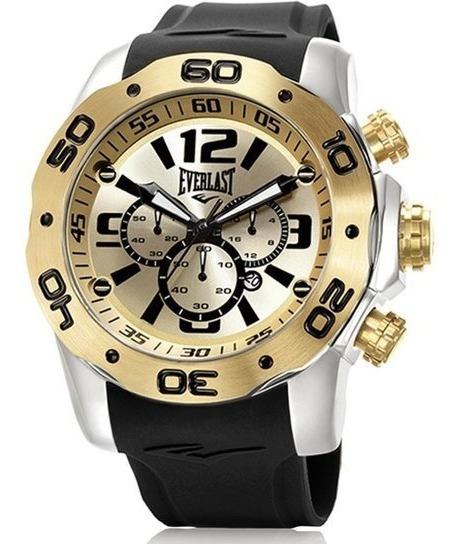 Relógio Cronografo Everlast E552 Pulseira Resina