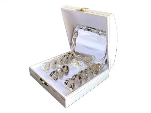 Imagen 1 de 4 de Arras Matrimoniales Oro Blanco Lam 14k Virgen De Guadalupe