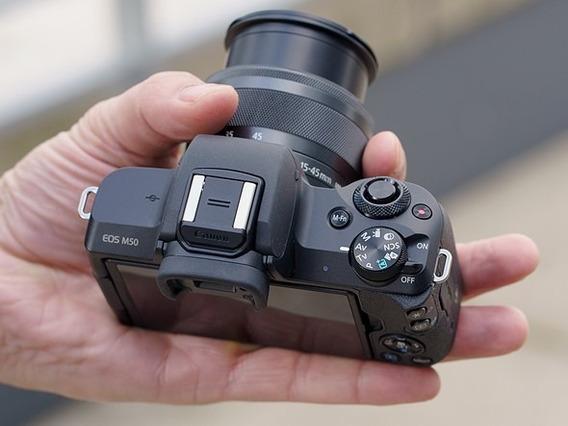 Câmera Canon Eos M50 24.1mp 3.0 Lente Ef-m 15-45mm