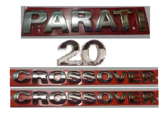 Kit Emblemas Parati 2.0 Crossover (2) + Brinde Volkswagen Pg