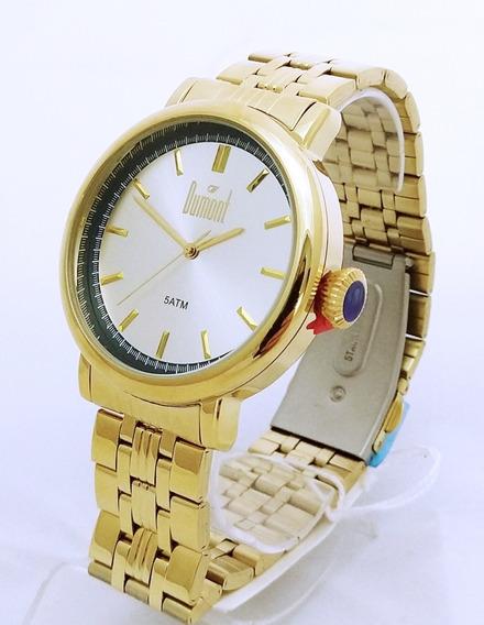 Relógio Unissex Dumont Dourado Du2035lsy/4d