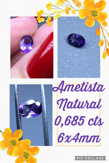 Ametista Oval Natural 0 685 Cts 6x4 Mm
