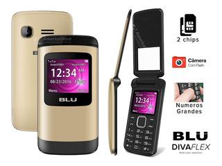 Celular Blu Zoey Flex 2chips Abre E Fecha Câmera Flip Idoso