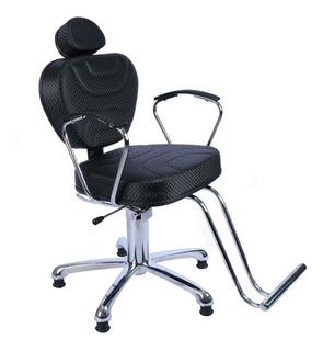 Poltrona Cadeira Recl. Cabeleireiro Barbeiro Frete Gratis