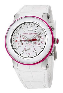 Reloj De Mujer Con Cronografo Juicy Couture Hrh White Dragon