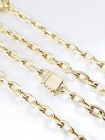 Corrente Elos Cartier De Ouro Amarelo Bem Grossa E Comprida