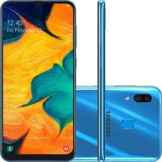 Smartphone Samsung Galaxy A30 64gb Tela 6.4 Azul Novo C/ Nfe