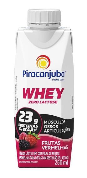 Piracanjuba Whey Zero Lactose Sabor Frutas Vermelhas 250ml