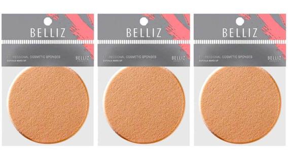 Belliz 550 Make Up Esponja Facial (kit C/03)