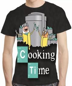 Camisa Adventure Time Coking Time Breaking Bad Estampa Total