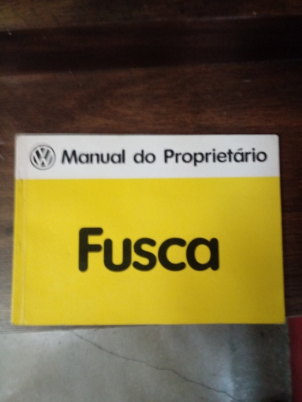 Manual Do Proprietário Fusca